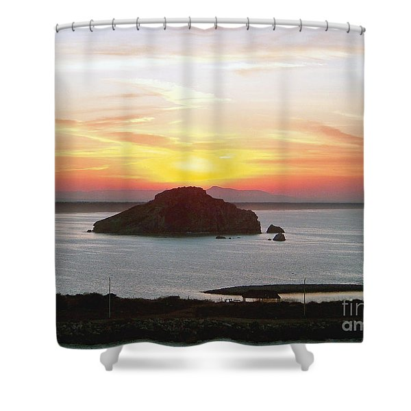 Mexican Riviera Sunset Shower Curtain