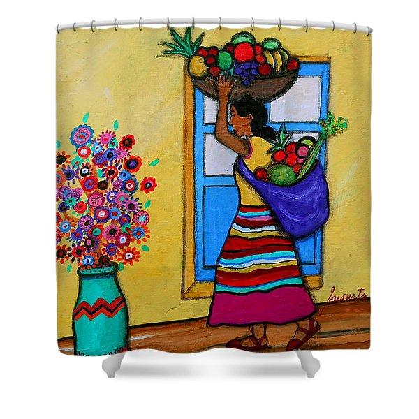 Mexican Street Vendor Shower Curtain