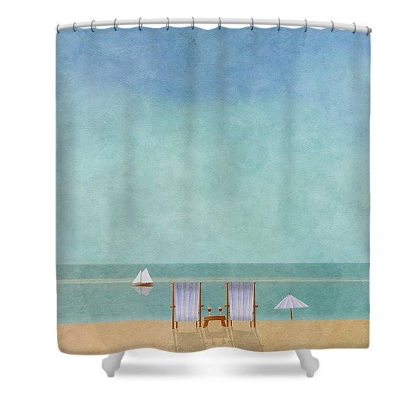 Mgl - Bathers 02 Shower Curtain