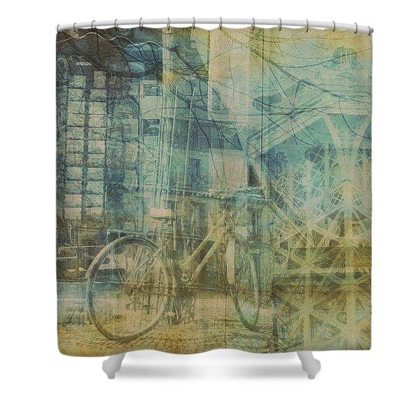 Mgl - City Collage - Paris 01 Shower Curtain