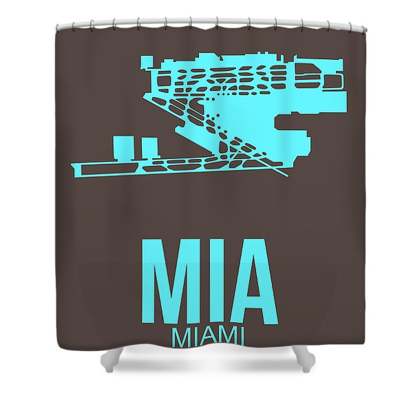 Mia Miami Airport Poster 2 Shower Curtain