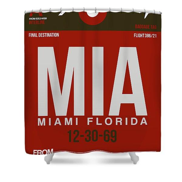 Mia Miami Airport Poster 4 Shower Curtain