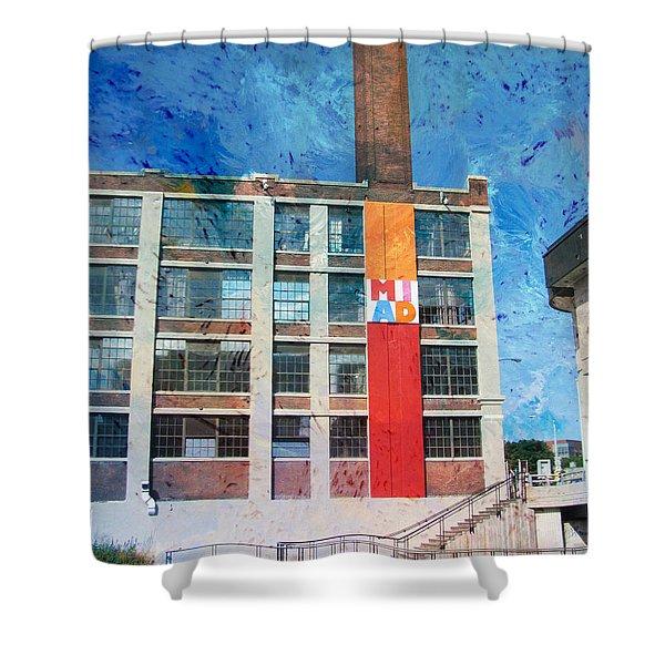 Miad 3 W Paint Shower Curtain