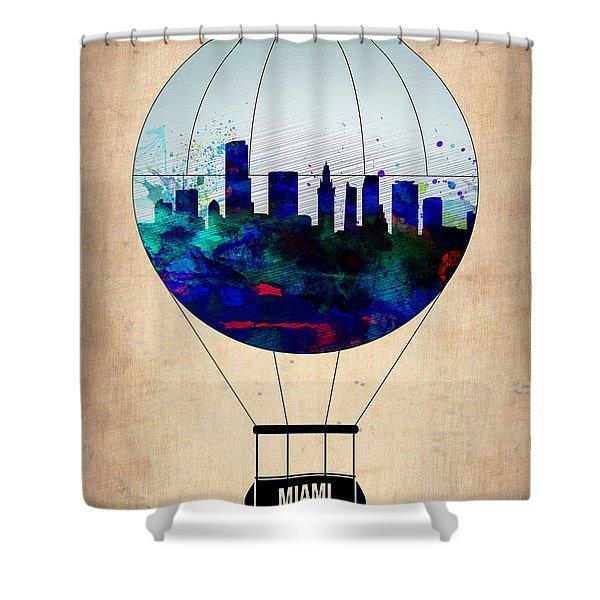 Miami Air Balloon Shower Curtain