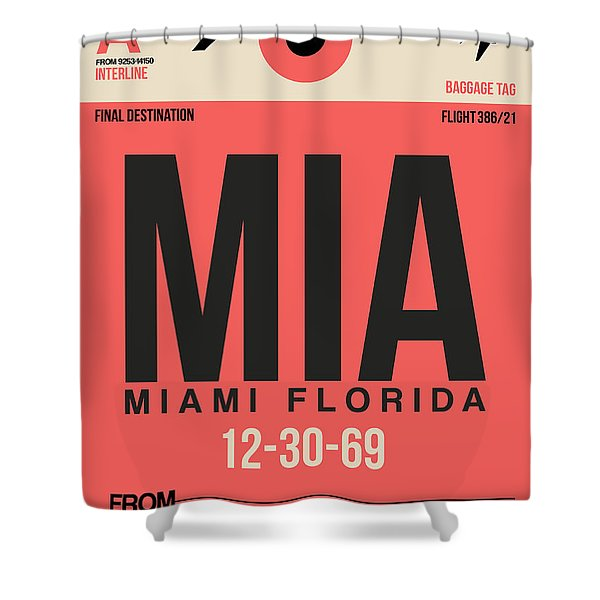 Miami Airport Poster 3 Shower Curtain