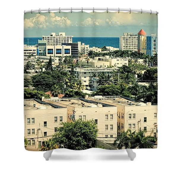 Miami Beach-0156 Shower Curtain