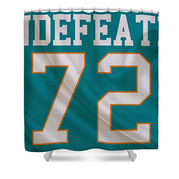 Miami Dolphins Undefeated Season Shower Curtain