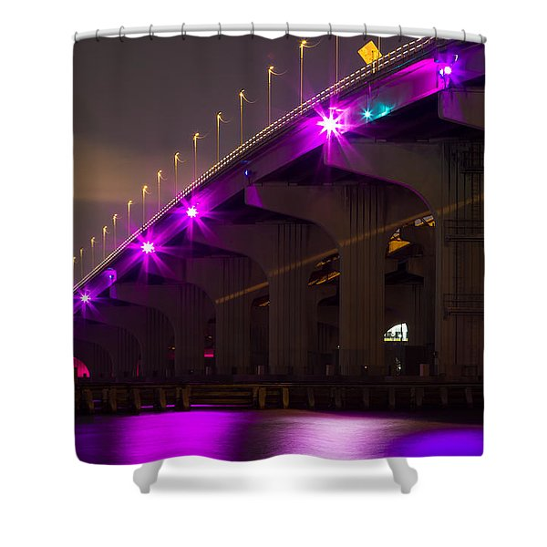 Miami Macarthur Causeway Bridge Shower Curtain