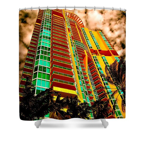 Miami South Pointe II Highrise Shower Curtain