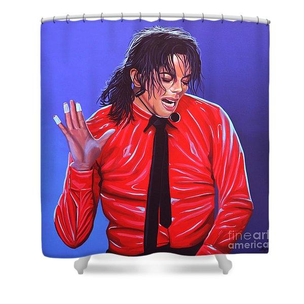 Michael Jackson 2 Shower Curtain by Paul  Meijering