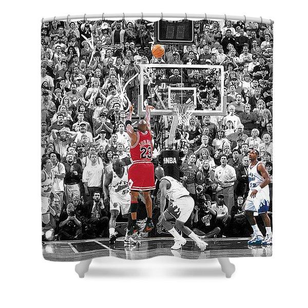 Michael Jordan Buzzer Beater Shower Curtain