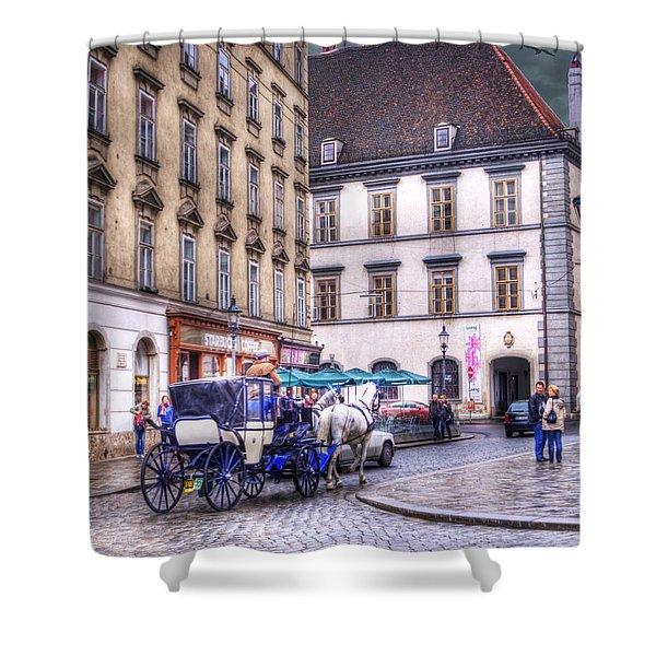Michaelerplatz. Vienna Shower Curtain