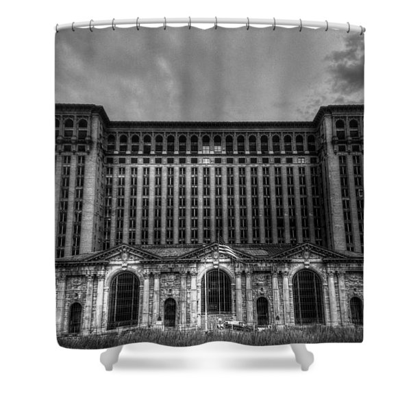 Michigan Central Station Bw Shower Curtain