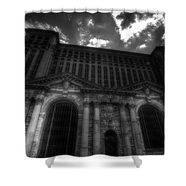 Michigan Central Station Highrise Shower Curtain