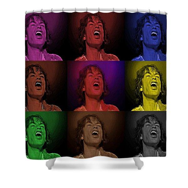 Mick Jagger Pop Art Print Shower Curtain
