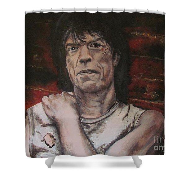 Mick Jagger - Street Fighting Man Shower Curtain