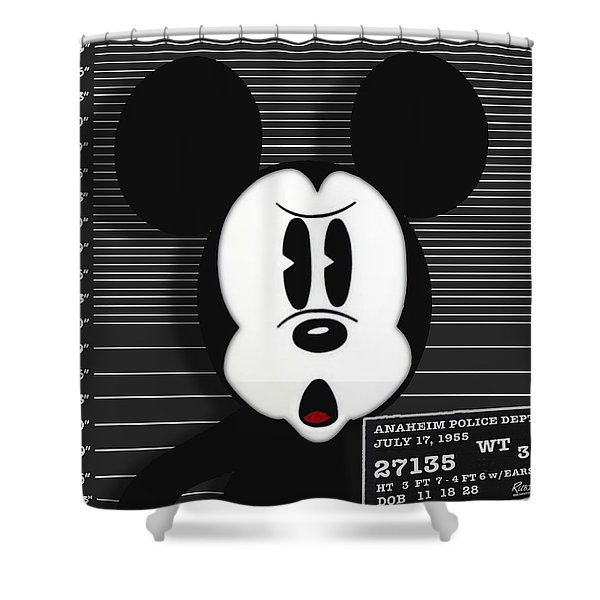 Mickey Mouse Disney Mug Shot Shower Curtain