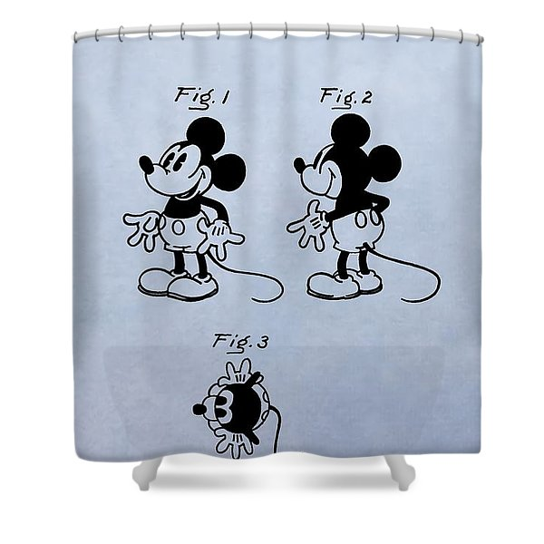 Mickey Mouse Patent Shower Curtain