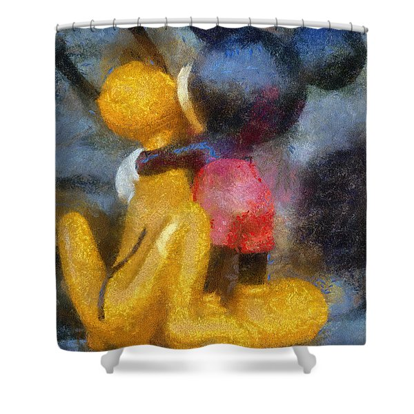 Mickey Mouse Photo Art Shower Curtain