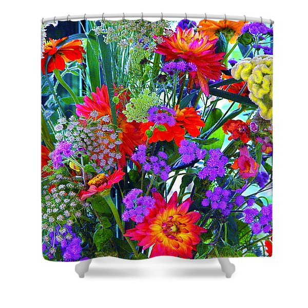 Mid August Bouquet Shower Curtain