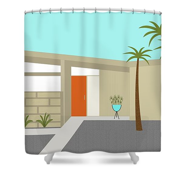 Mid Century Modern House 1 Shower Curtain