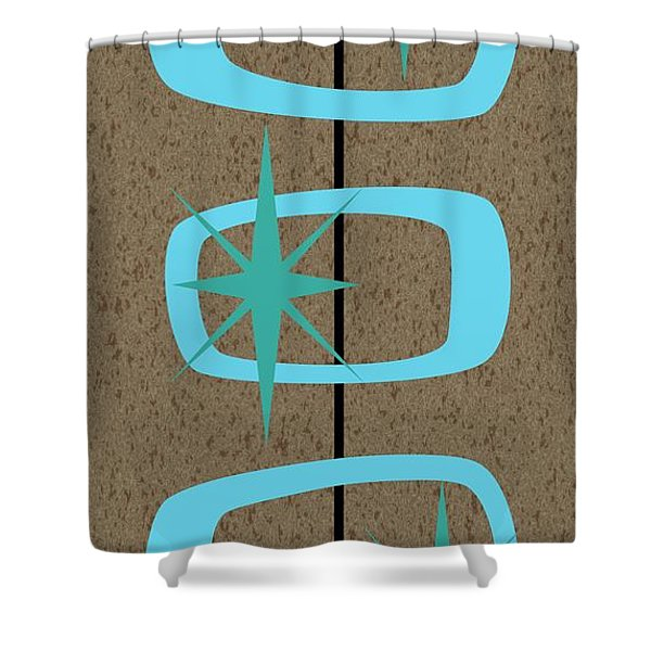 Mid Century Modern Shapes 1 Shower Curtain