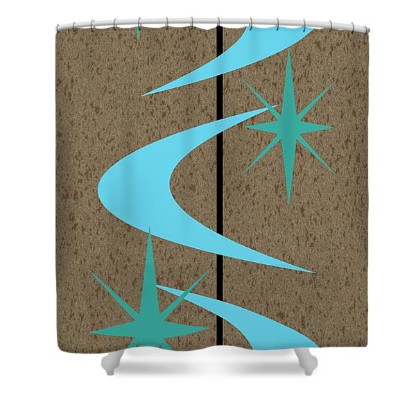 Mid Century Modern Shapes 2 Shower Curtain