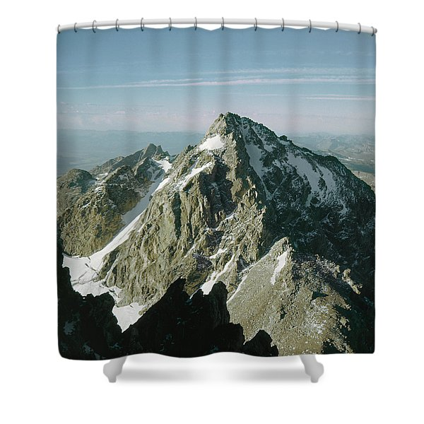 T-209207-middle Teton From Grand Teton Shower Curtain