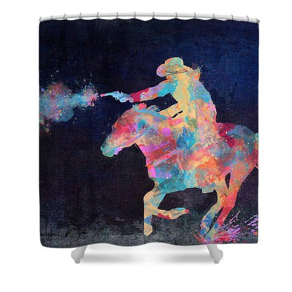 Midnight Cowgirls Ride Heaven Help The Fool Who Did Her Wrong Shower Curtain