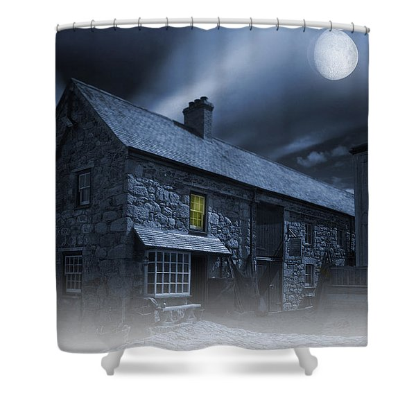 Midnight Mist Shower Curtain