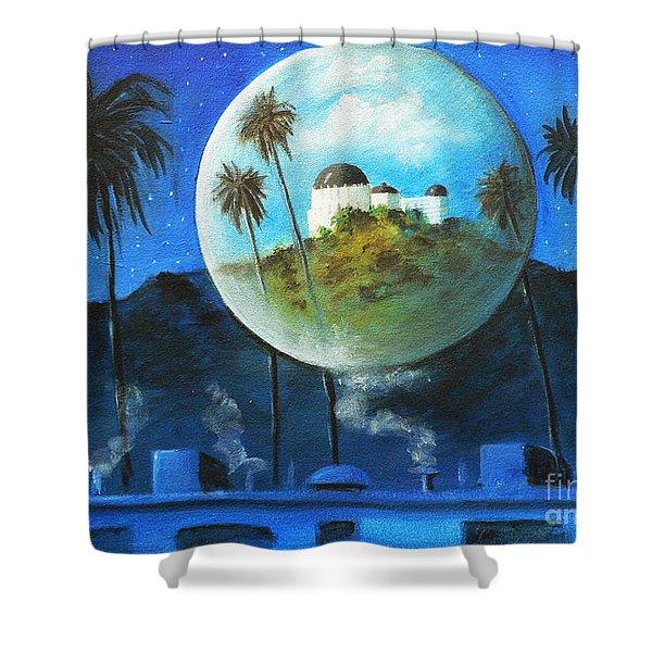 Midnights Dream In Los Feliz Shower Curtain