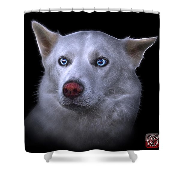 Mila - Siberian Husky - 2103 - Bb Shower Curtain