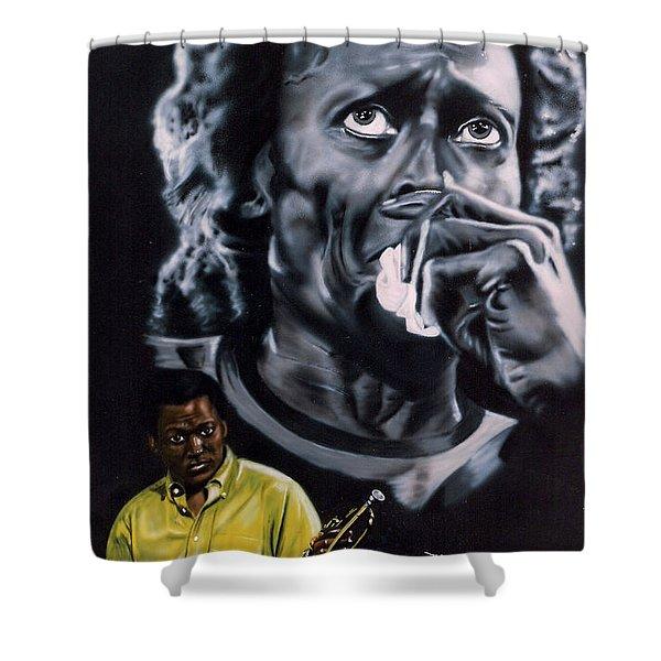 Miles Davis Jazz King Shower Curtain