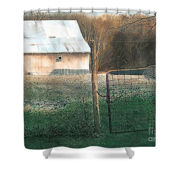 Milking Time Shower Curtain