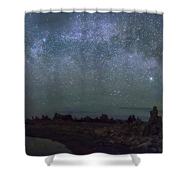 Milky Way At Mono Lake Shower Curtain