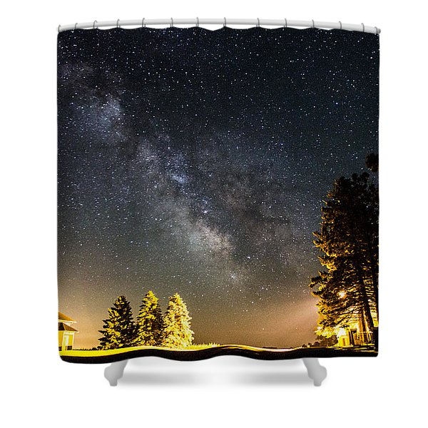 Milky Way From Oldham South Dakota Usa Shower Curtain