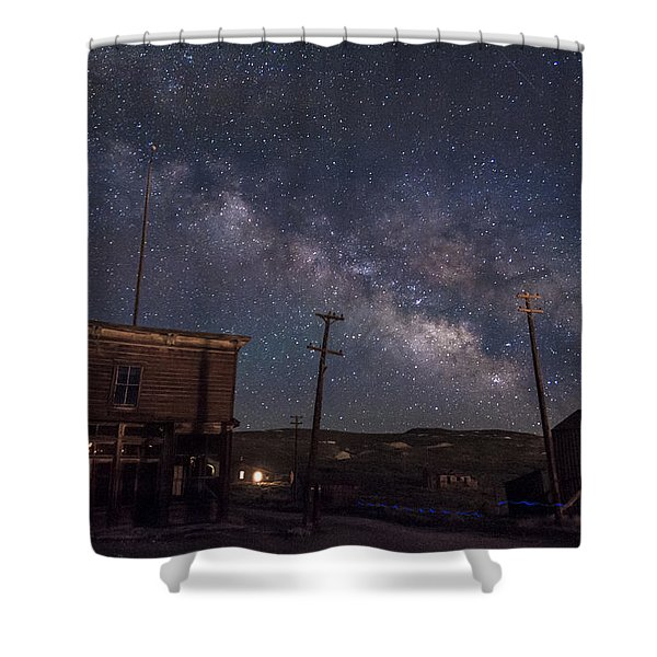 Milky Way Over Bodie Hotels Shower Curtain