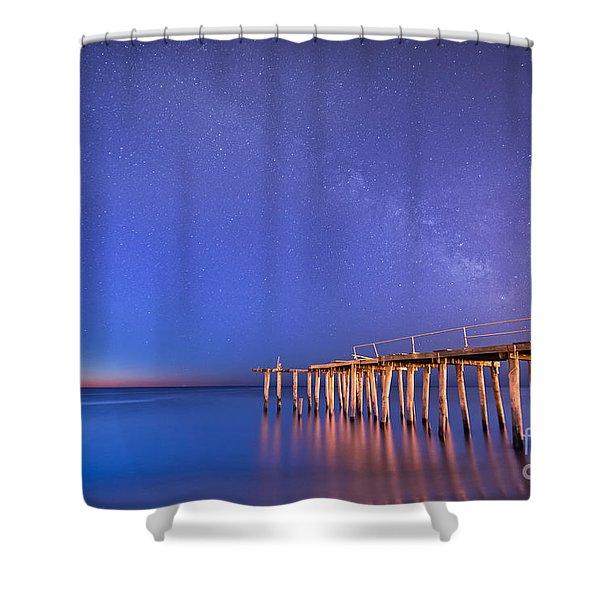 Milky Way Sunrise Shower Curtain