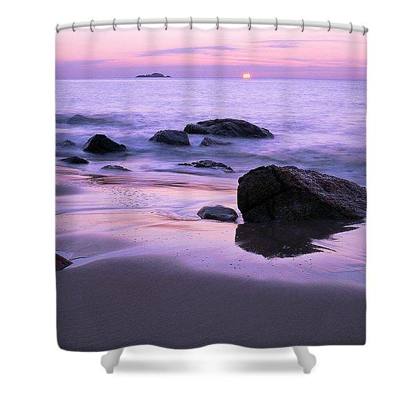 Millennium Sunrise Singing Beach Shower Curtain