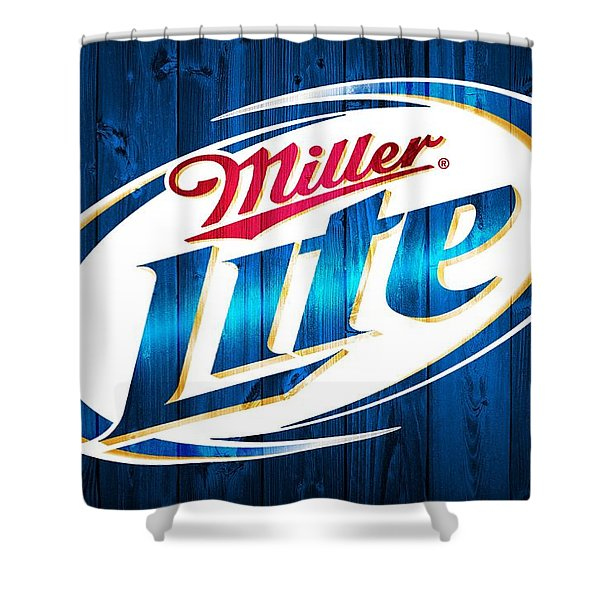 Miller Lite Barn Door Shower Curtain