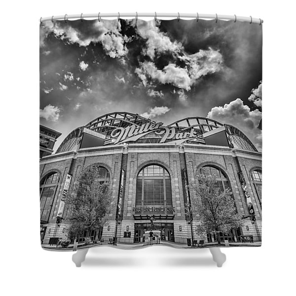 Milwaukee Brewers Miller Park 7 Shower Curtain