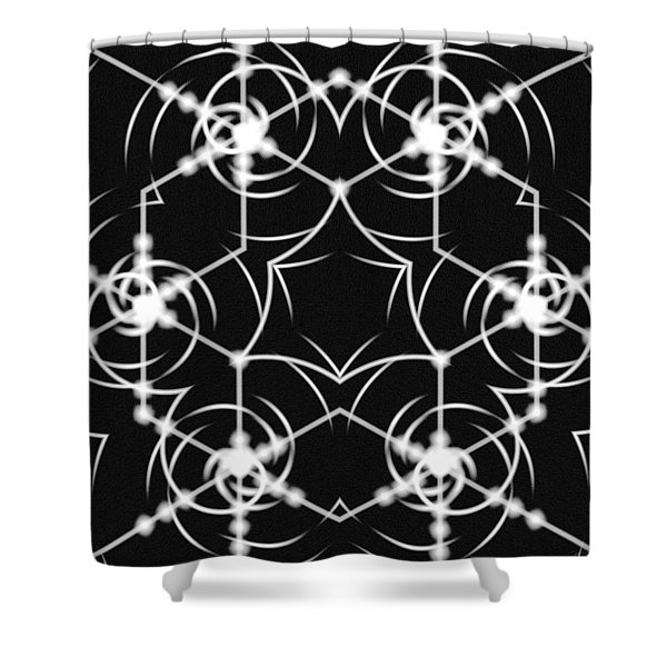 Minimal Life Vortex Shower Curtain