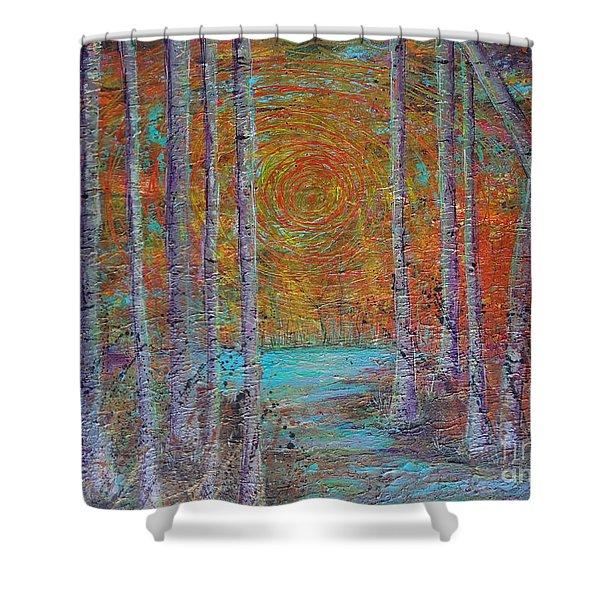 Minnesota Sunset Shower Curtain