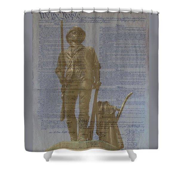 Minuteman Constitution Shower Curtain