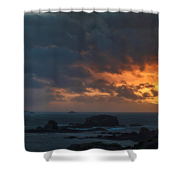 Mirandas Islands Galicia Spain Shower Curtain