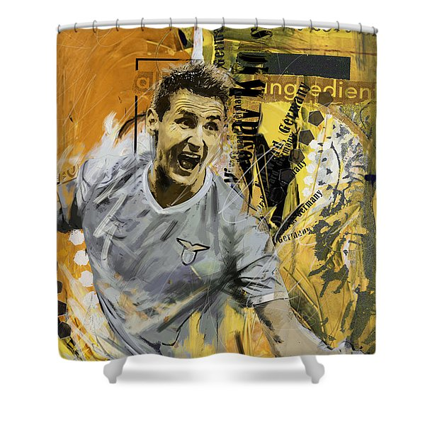 Miroslav Klose - B Shower Curtain