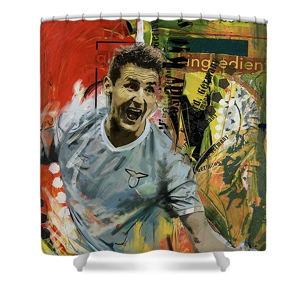 Miroslav Klose Shower Curtain