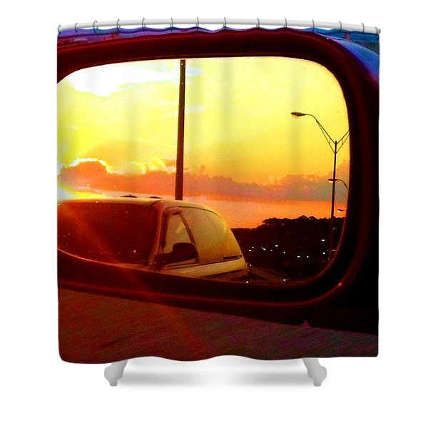 Mirror Sunset Shower Curtain
