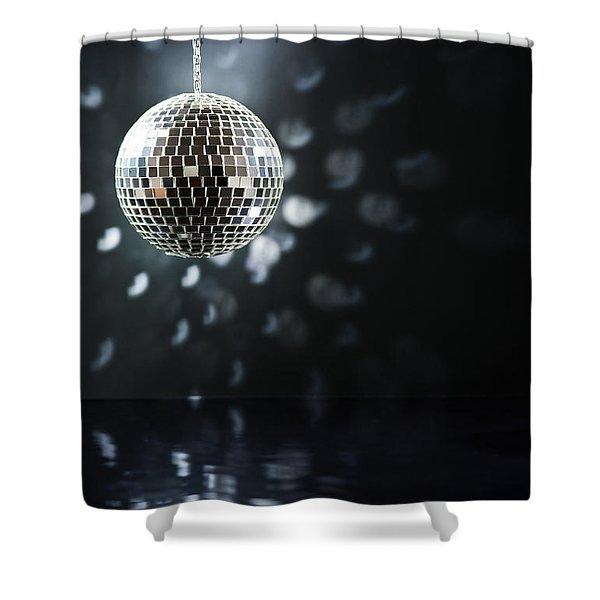 Mirrorball Shower Curtain