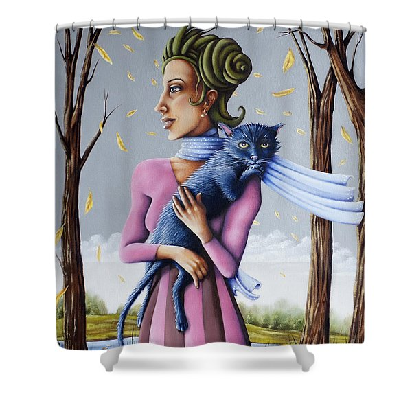 Miss Pinky's Outing Shower Curtain